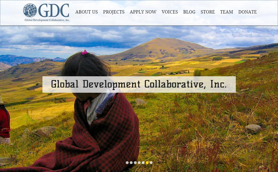Global Development Collaborative Website, a website Spiro designed for Global Development Collaborative.